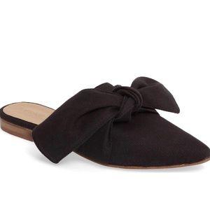 Topshop Adele Bow Black Flat Mules